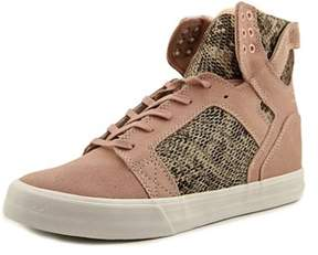 Supra Skytop Wedge Women Round Toe Synthetic Pink Sneakers.