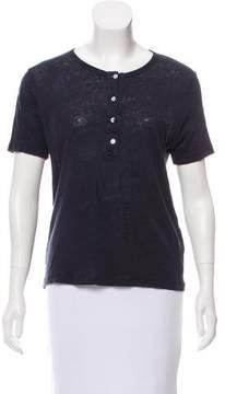 Masscob Short Sleeve Linen Top
