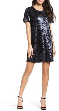 Chelsea28 Women's Sequin Velvet Shift Dress