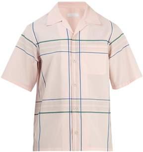 Prada Large checked-pattern cotton-poplin shirt