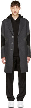 Neil Barrett Grey Wool Modernist Coat