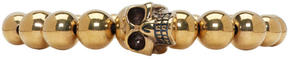 Alexander McQueen Gold Skull Multibeaded Bracelet