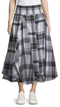 Context Plaid A-Line Skirt