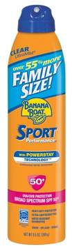 Banana Boat Sport Performance UltraMist Continuous Spray Sunscreen, SPF 50+, Family Size