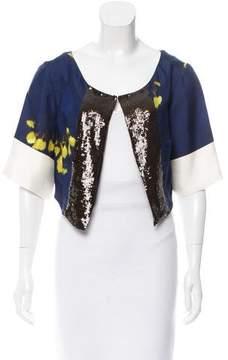 Dries Van Noten Cropped Silk Jacket