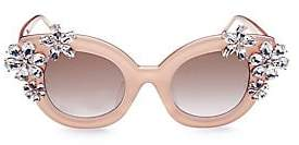 Alice + Olivia Women's Olivia Nude Crystal Sunglasses