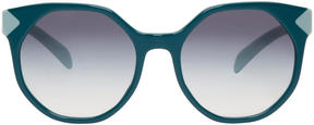 Prada Green Octagonal Sunglasses