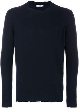 Mauro Grifoni raw edge crew neck sweater