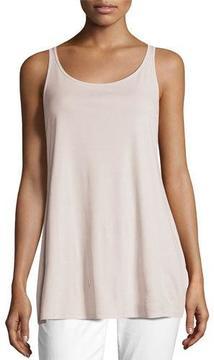 Eileen Fisher Scoop-Neck Stretch Silk Jersey Tunic
