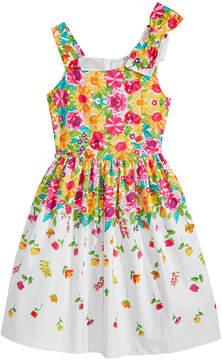 Bonnie Jean Bow-Shoulder Floral-Print Dress, Big Girls