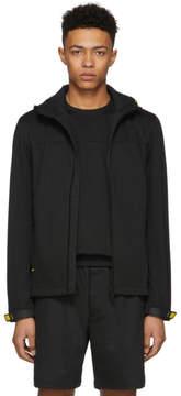 Prada Black Hooded Tech Jacket