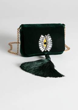 And other stories Beaded Velvet Crossbody Bag