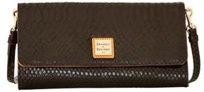 Dooney & Bourke Snake Crossbody Clutch Shoulder Bag - BLACK - STYLE