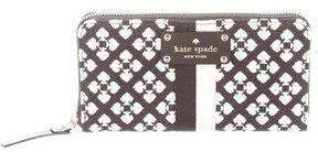 Kate Spade Woven Patterned Wallet - BLACK - STYLE