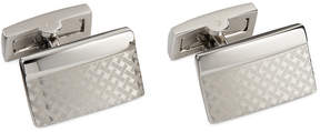 Ryan Seacrest Distinction Silver Basketweave Rectangle Cufflinks