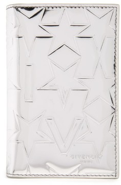Men's Givenchy Embossed Bifold Leather Card Case - Metallic