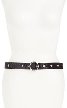 Halogen Women's Grommet Velvet Skinny Belt
