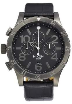 Nixon A363-1886 48-20 Chrono Leather Black Gator Watch