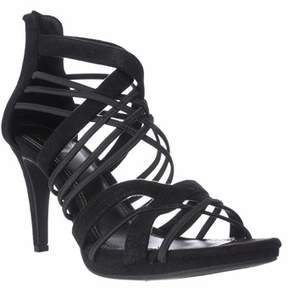 Impo Suki Zip-up Strappy Dress Sandals, Black.