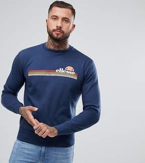 Ellesse Tiberio Crew Neck Sweatshirt In Navy