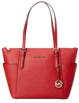 MICHAEL Michael Kors Jet Set Tz Leather Tote. - RED - STYLE