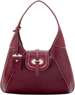 Dooney & Bourke Florentine Toscana Front Stitch Hobo - BORDEAUX - STYLE