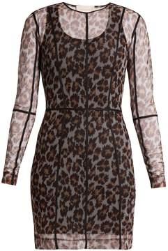 Christopher Kane Leopard-print mesh dress