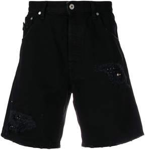 Just Cavalli ripped denim shorts