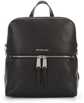 MICHAEL Michael Kors Silver-Tone Rhea Slim Zip Backpack
