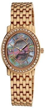 August Steiner Rose Gold-tone Metal Diamond Ladies Watch