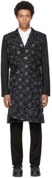 Comme des Garcons Black Mohair Jacquard Coat
