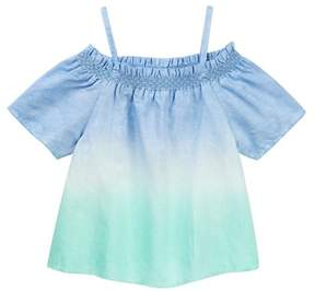 Joe's Jeans Off-the-Shoulder Dip Dye Top (Big Girls)