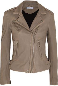 IRO Leather Biker Jacket - Mushroom