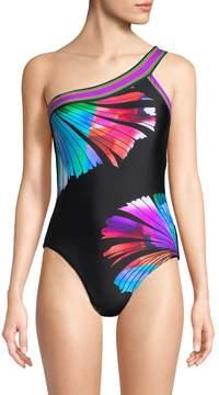 LaBlanca La Blanca Women's Fan One Shoulder Swimsuit
