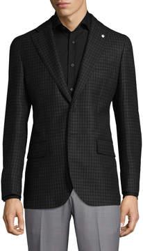 Lubiam Men's Notch Lapel Wool Jacket