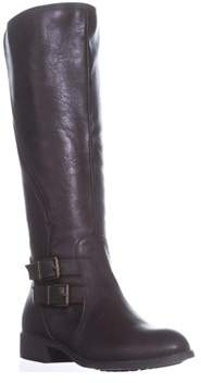Style&Co. Sc35 Milah Zip-up Riding Boots, Chocolate.