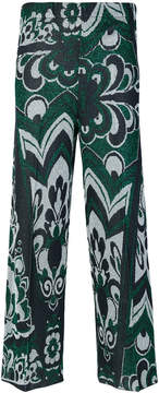 Circus Hotel printed cropped trousers
