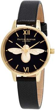 Olivia Burton 3D Bee Black Dial Ladies Watch