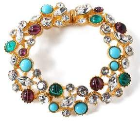 Ben-Amun Silver-Tone Swarovski Crystal And Stone Bracelet