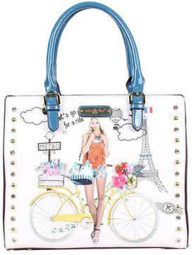 Nicole Lee Women's Spring Ride Print Tote Bag