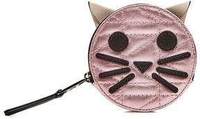 Karl Lagerfeld K/Kuilted Pink Cat Leather Coin Purse