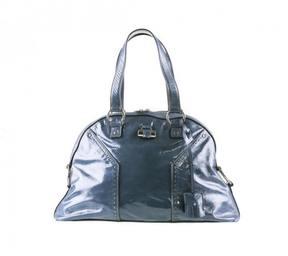 Saint Laurent Leather handbag - BLUE - STYLE