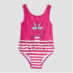 Joe Fresh Baby Girls' Ruffled Peplum Swimsuit