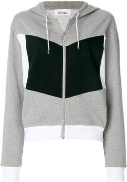 Courreges colour-block hooded sweatshirt