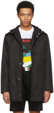 Prada Black Hooded Side Zip Coat