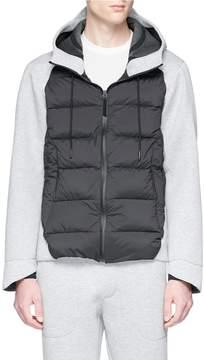 Isaora Neoprene panel down zip hoodie
