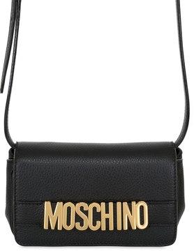 Logo Lettering Leather Shoulder Bag