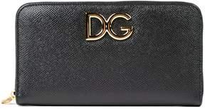 Dolce & Gabbana Zip Around Wallet - BLACK - STYLE