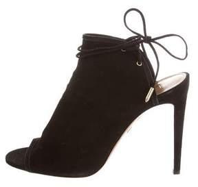 Altuzarra Aquazzura Suede Mayfair 105 Sandals