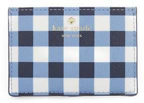 Kate Spade Hyde Lane Gingham Card Holder - NAVY/WHITE - STYLE